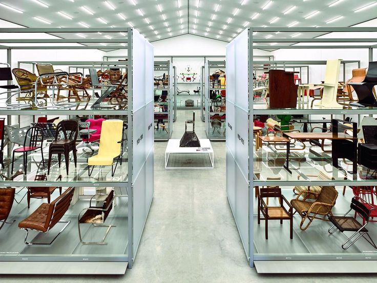 Vitra Schaudepot Exhibition. The purpose is not only to show highlights from the museum holdings to visitors, but also to provide a survey of the history of seating since 1800. #interdema #design #designproducts #VitraSchaudepot #schaudepot #VitraCampus #Vitra #дизайн #дизайнерскаямебель