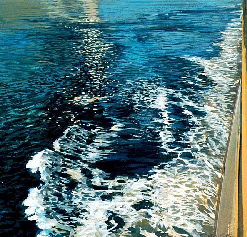 """New York Harbor IV"" | Richard Estes (1996)"