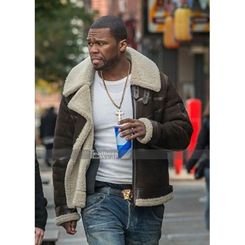 Power 50 Cent Brown Fur Leather Jacket #Power50CentJacket #BrownJacket #FurJacket #LeatherJacket