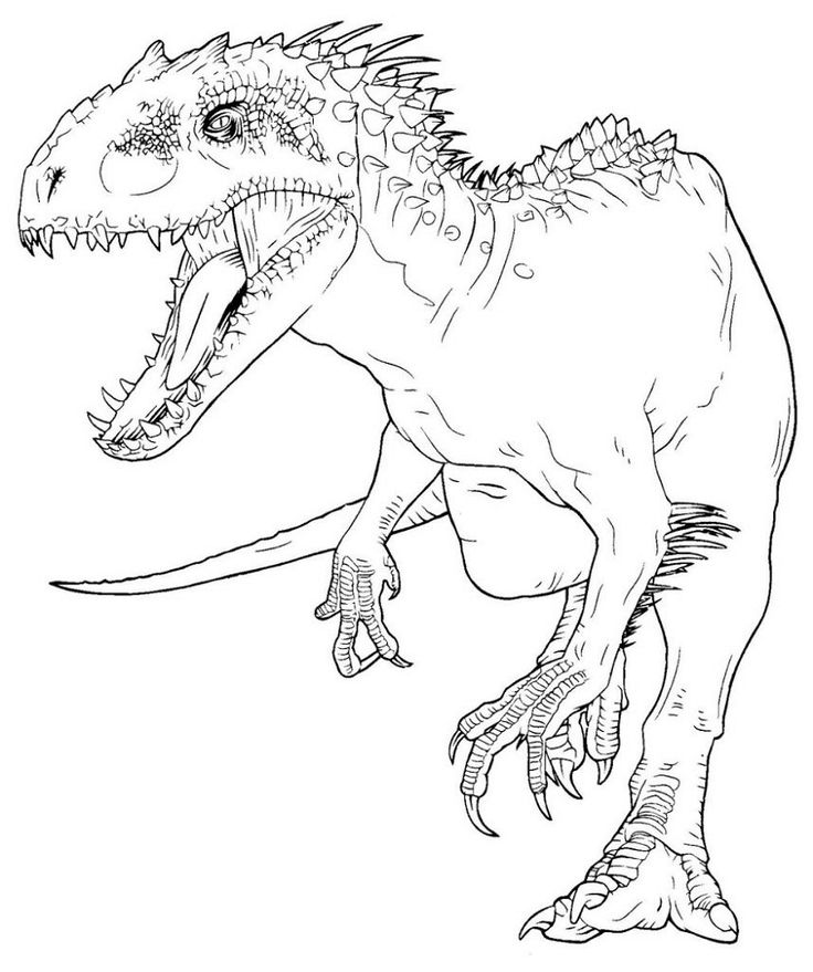 indominus rex coloring pages  dinosaur coloring pages
