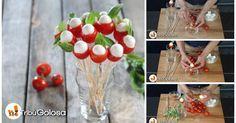 Bouquet di pomodorini e mozzarella