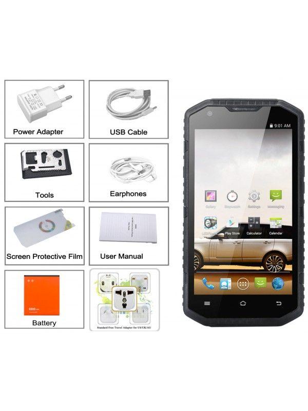 No.1 X6800 IP68 Smartphone (Black)