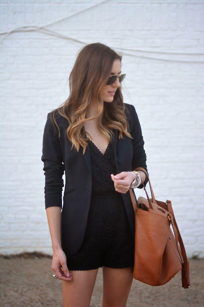 black lace romper   - quarter life closet