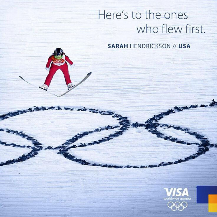 Here's to the ones who flew first. The FIRST women's ski jump in the Olympics. Sochi 2014.