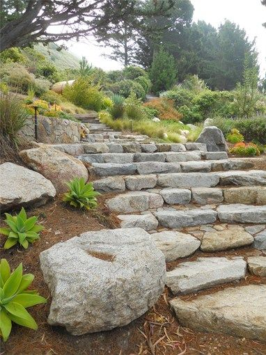Steps, Random Stone Entryways, Steps and Courtyard Landscaping Network Calimesa, CA