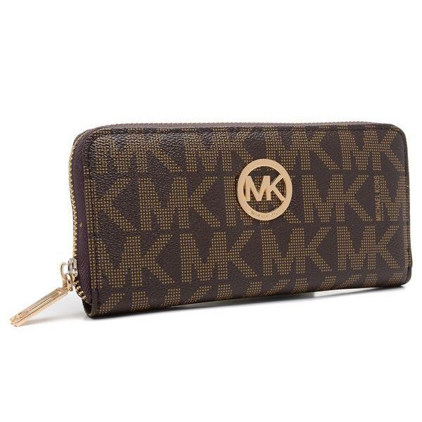 Michael Kors Logo Signature Large Coffee Wallets Will Make You Feel That  You Are The One