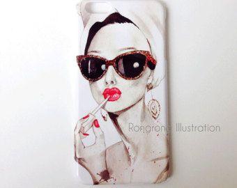 Audrey Hepburn inspired iPhone Case by RongrongIllustration