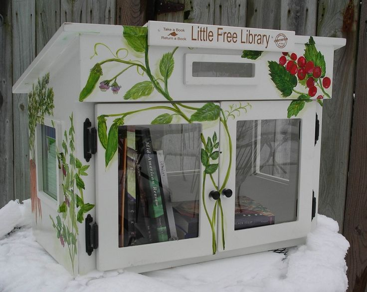Little Free Library; National project to promote literacy and the love of reading by building free book exchanges worldwide. Each Little Library is unique and darling!