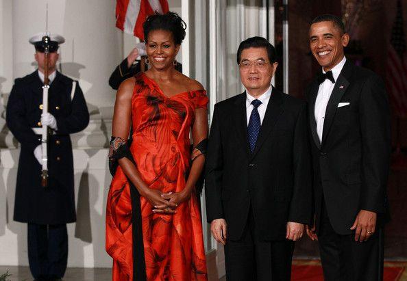 Michelle Obama Barack Obama Photos - Obama Hosts Chinese President Hu Jintao For State Visit At White House - Zimbio