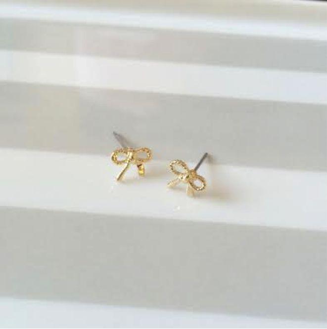 LC Lauren Conrad for Kohl's Bow Earrings, $9