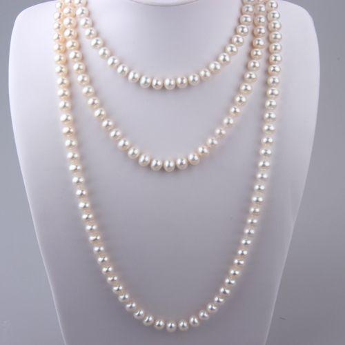 8-9 mm Triple-Strand White Freshwater Pearl Necklace 8-9 mm Triple-Strand White Freshwater Pearl Necklace [SANXL0016] - $119.99 : Fashion Pe...