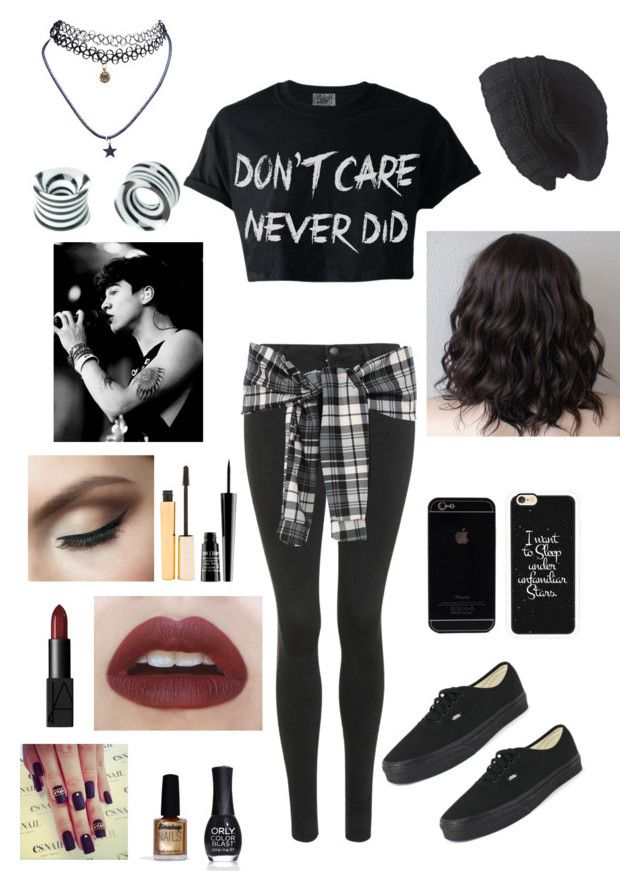 """Calum Hood Inspired Outfit"" by dani1719 ❤ liked on Polyvore featuring Topshop, Vans, Casetify, Laundromat, Wet Seal, Stila, Lord & Berry, NARS Cosmetics, Limedrop and ORLY"