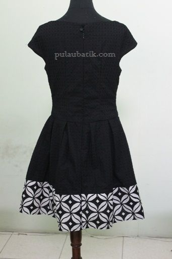 Model baju batik untuk pesta desain mini dress terbaru yang cantik dan modern