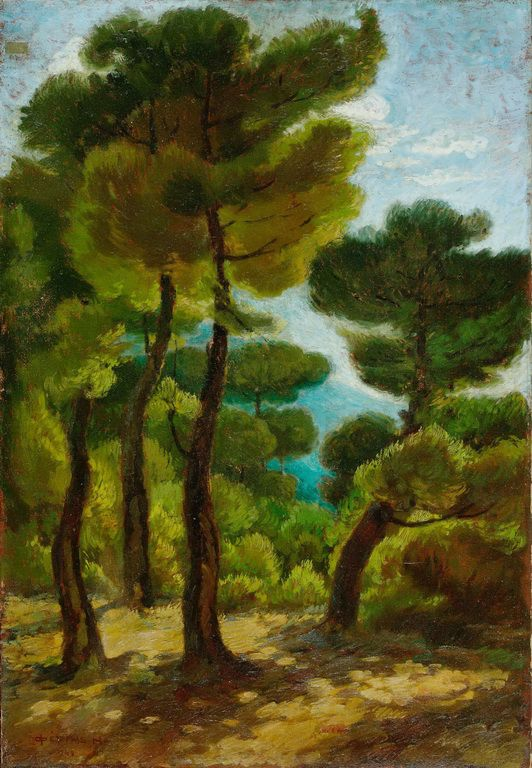 .:. Φέρτης Ηλίας – Ilias Fertis [1906-1987] Πεύκα, 1948