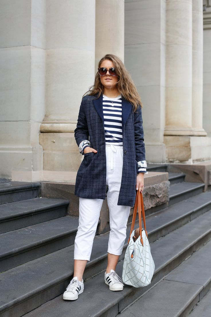 I always like to be comfortable, but also like to mix something like     this classy blazer with something casual like these sneakers for a bit     of edge, then a normal stripe tee... I'll also wear ripped jeans, but     with a nice shirt. This jacket is from Melbourne label Ryder,I li