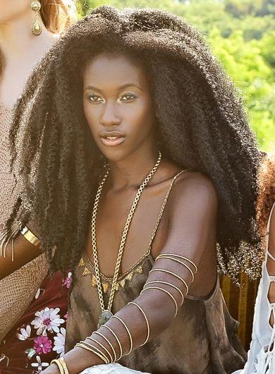 Natural Hair <-- Gorgeous!! Lies, all lies, that say black women can't grow long hair naturally!