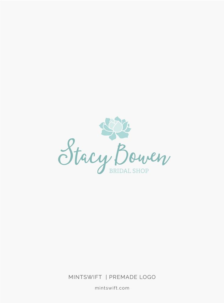 £40 | Stacy Bowen Premade Logo Design | MintSwift