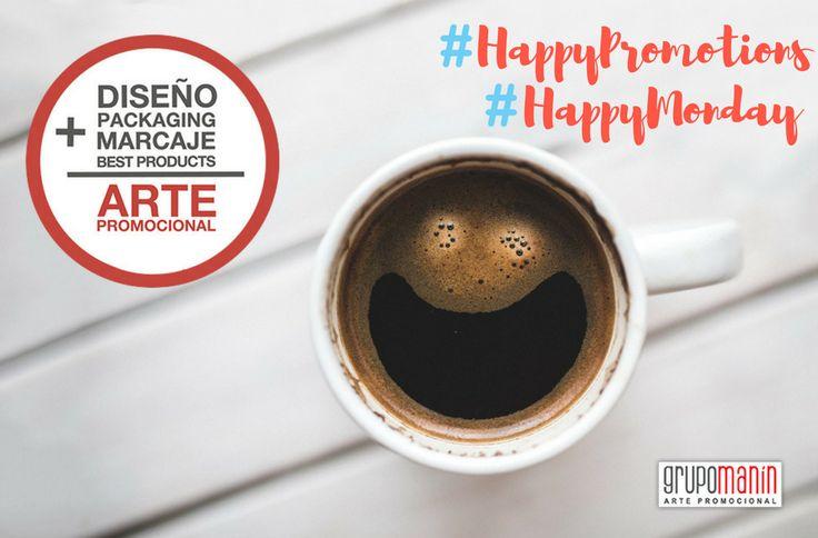#felizlunes✌y buen comienzo de semana te desea el equipo de @grupomanin. Especialistas en #diseño, #packaging y #marcaje en #productospromocionales. #artepromocional #design #merchandising #regalospublicitarios #promotionalproducts #picoftheday #coffee #happymonday