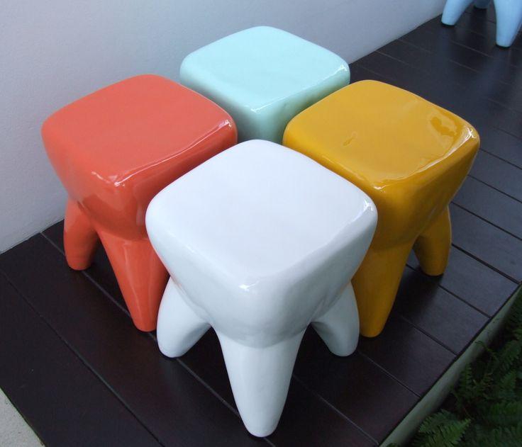 Tooth Teeth Toy Fiberglass Stool Teeth Dental Stool