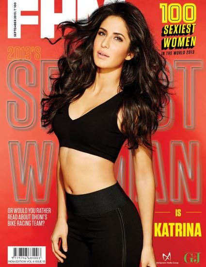 Katrina Kaif on the cover of FHM Indias 100 sexiest women in the world 2013 issue