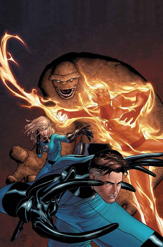 MARVEL KNIGHTS: 4 #1 - Thing, Human Torch, Invisible Woman and Mr. Fantstic by Steve McNiven