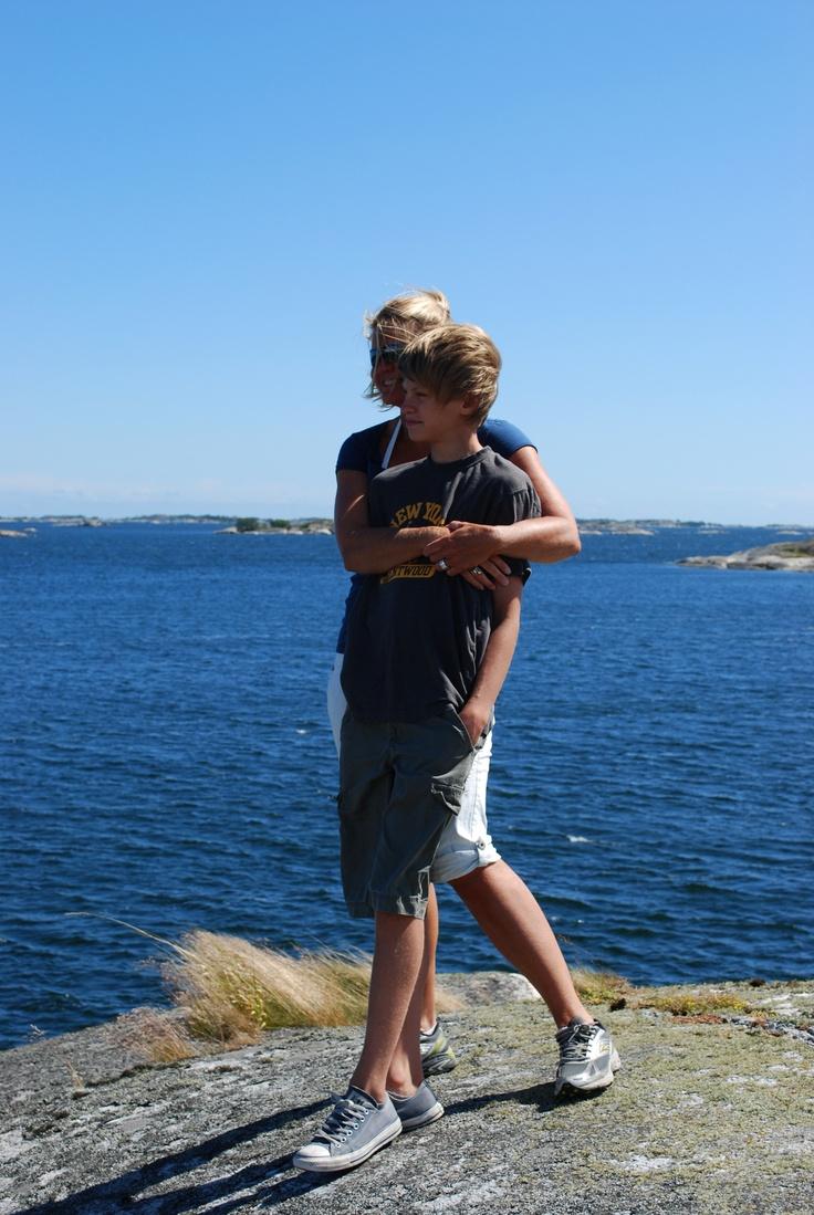 Us in the Stockholm archipelago