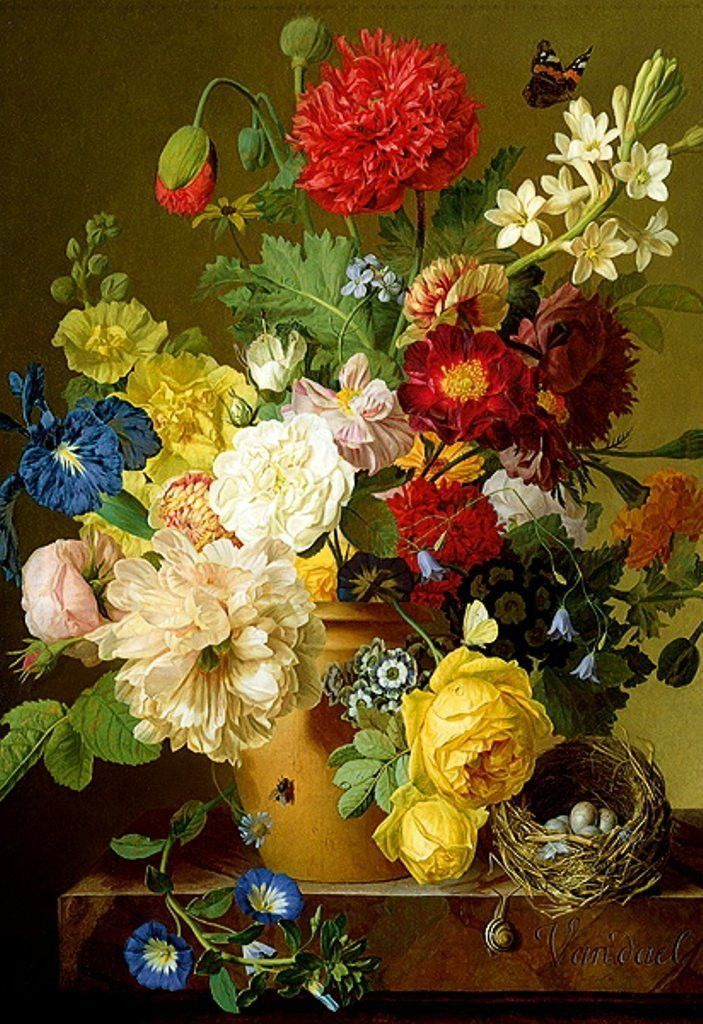 Still Life with Flowers 1500 Piece Jigsaw Puzzle