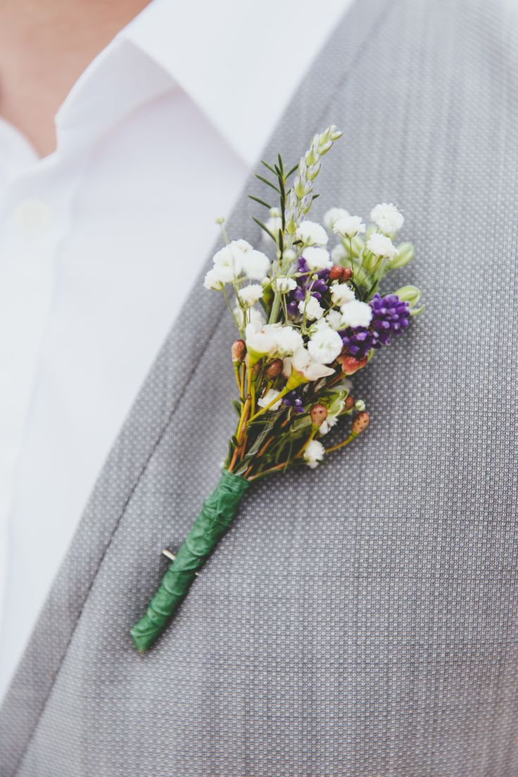 Groom Buttonhile Wild Flowers Relaxed Fun Rustic Countryside Barn Wedding http://www.paulunderhill.com/