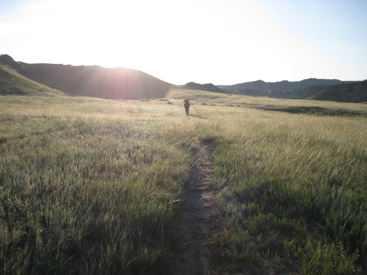 Hiking Jones Creek. Theodore Roosevelt National Park, North Dakota.