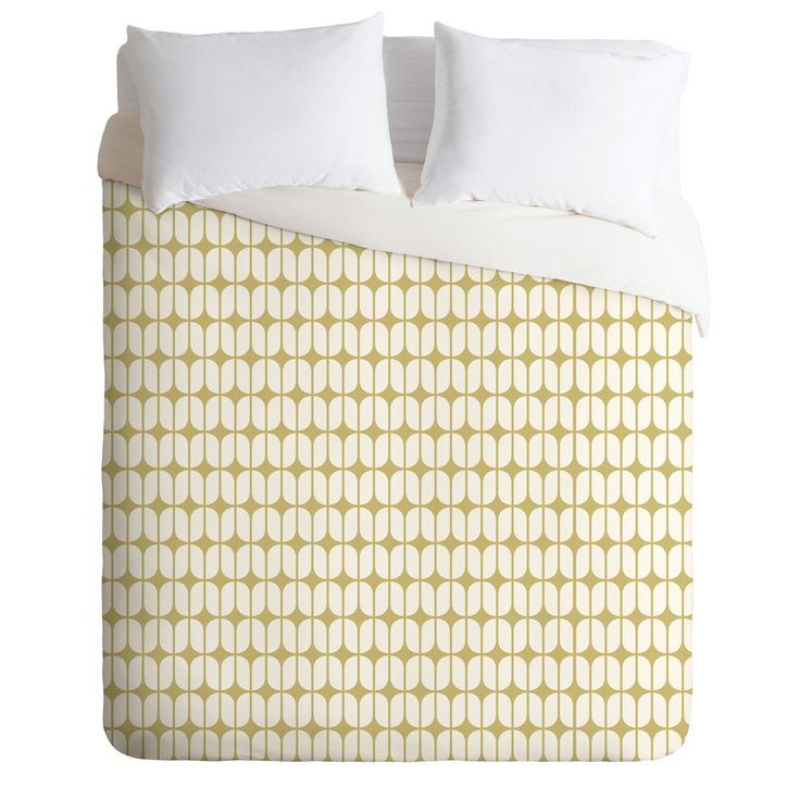 Caroline Okun Modular Beige Duvet Cover | DENY Designs Home Accessories
