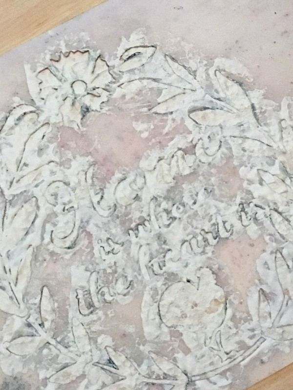 How to stencil using plaster of Paris - Debbiedoos