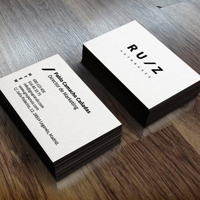 Propuesta de tarjetas de visita para el Grupo Ruiz #businesscards