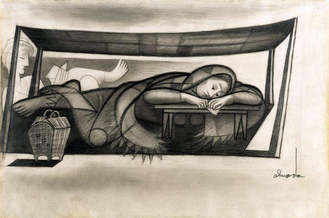 José de Almada Negreiros, s/título, Desenho, Grafite sobre Papel