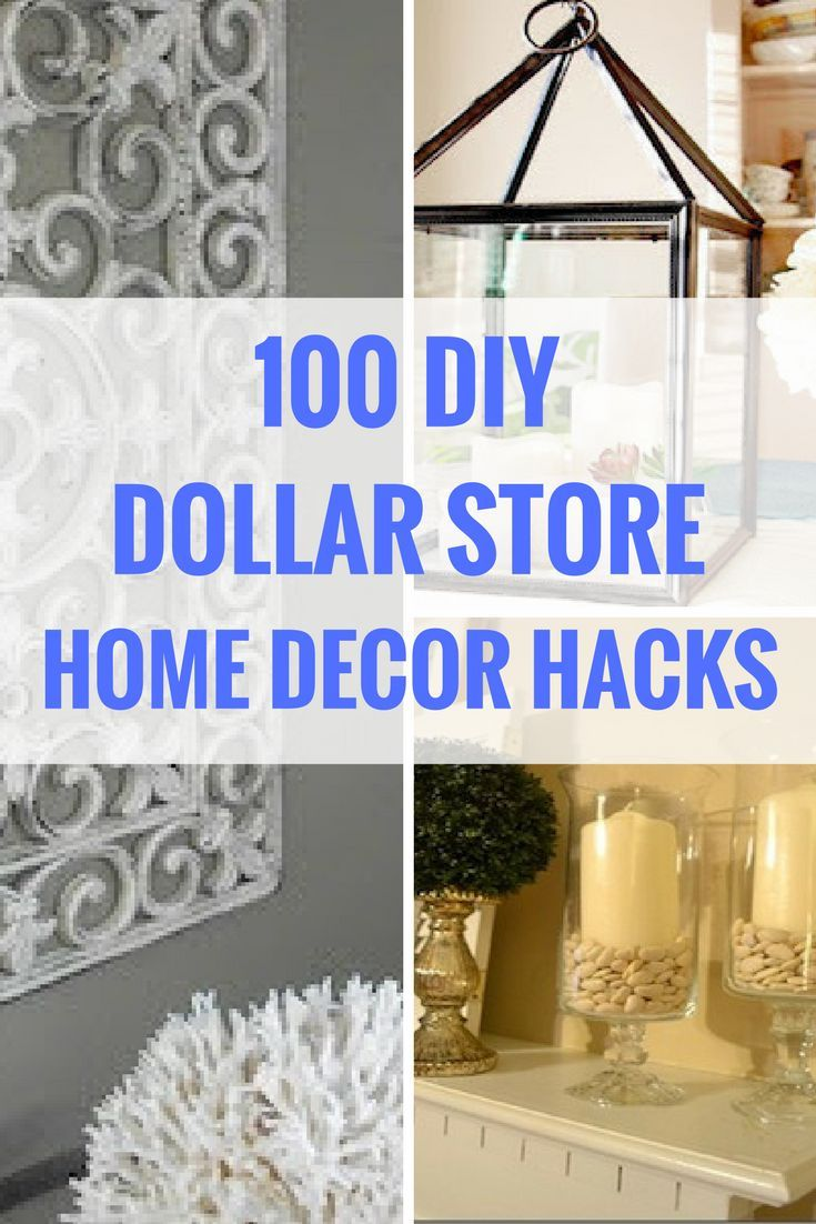 100 Dollar Store DIY Home Decor Ideas | Diy apartment ...