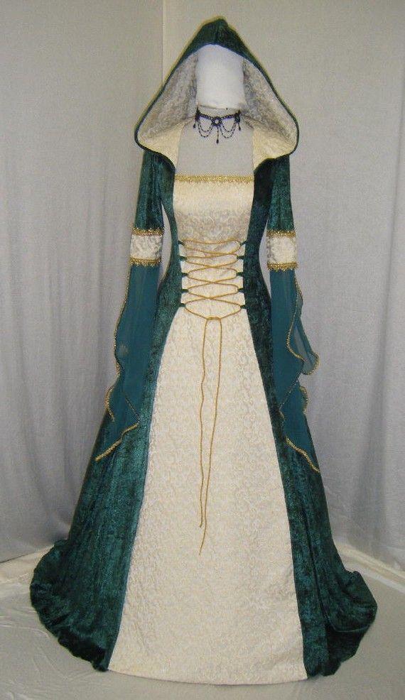 vestido medieval vestido de boda celta por camelotcostumes en Etsy