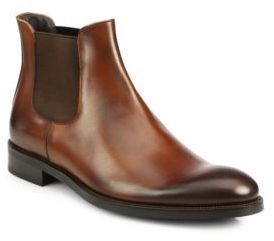 $276, New York Welker Chelsea Leather Slip On Boots by To Boot. Sold by Saks Fifth Avenue. Click for more info: http://lookastic.com/men/shop_items/99202/redirect
