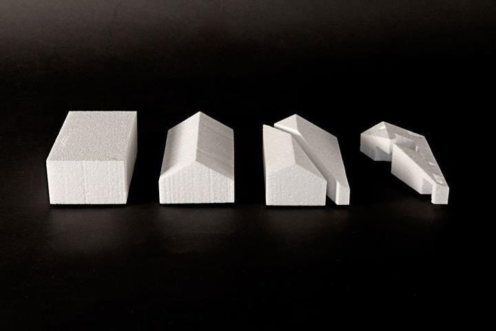 ARX Portugal, Stefano Riva, house in possanco - Portugal - 2011. Architectural model, poliesterene 2010|14.