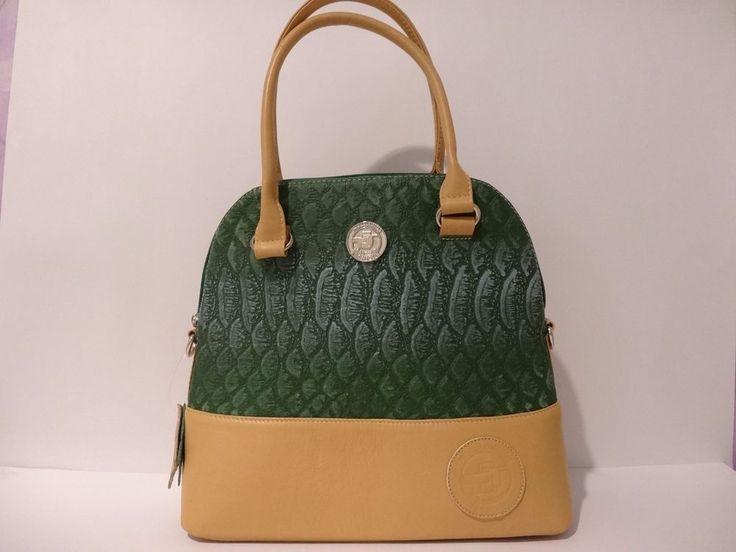 NWT THE COLOMBIAN TECHNIQUE Designer Embossed 100% Leather Satchel Shoulder Bag  #TheColombianTechnique #Satchel