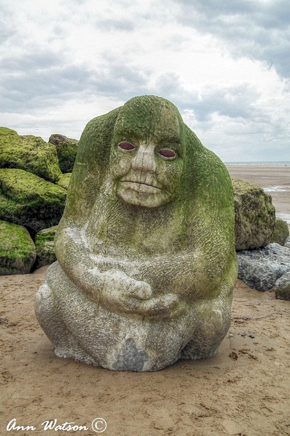 The Ogre Cleveleys Lancashire UK Greetings Card with by AWatsonuk
