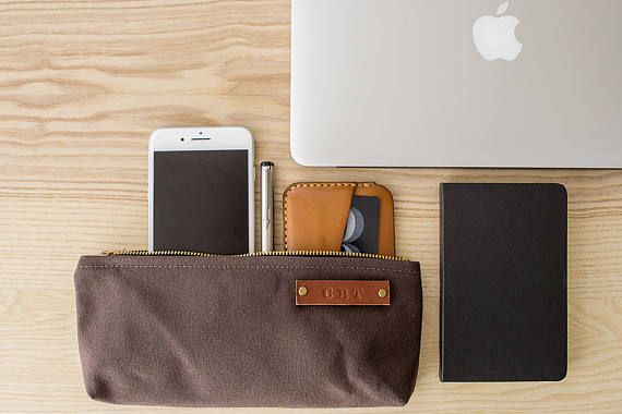 Modern Coup Stock Pouch Optional Personalization) - Brown