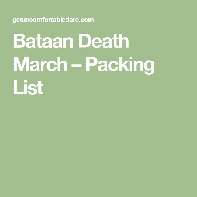 Bataan Death March – Packing List