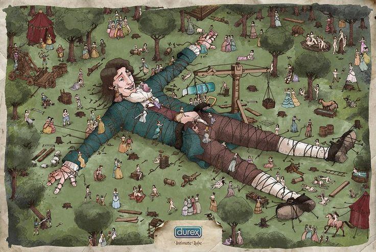 DUREX, Los viajes de Gulliver