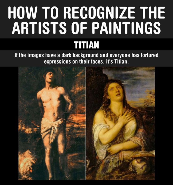 How to recognize the artists of paintings. Why didn't anyone tell me this before?