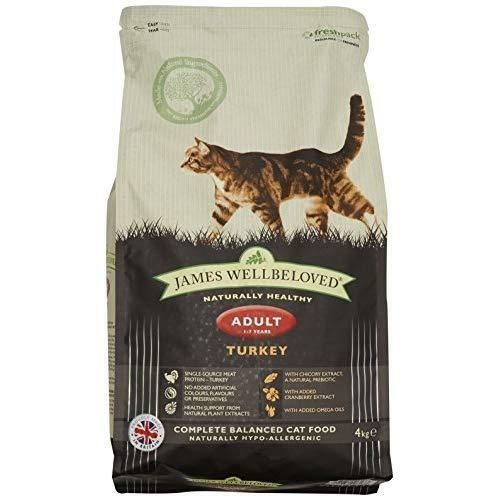 Jameswellbeloved Turkey And Rice Dry Adult Cat Food 4 Kg Pet
