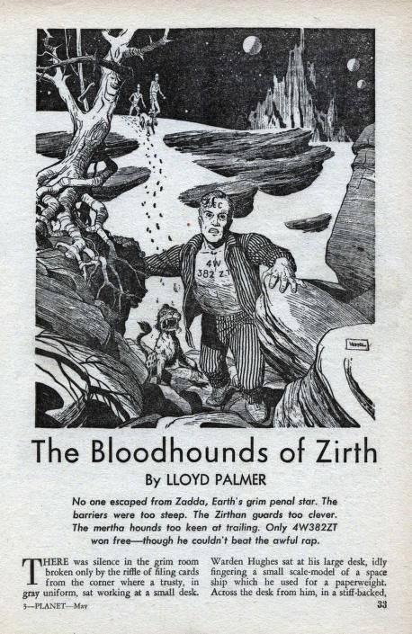 Herman Vestal The Bloodhounds Of Zirth By Lloyd Palmer Planet