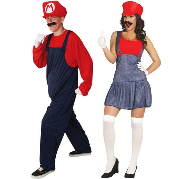 Pareja Disfraces de Mario Bross #parejas #disfraces #carnaval