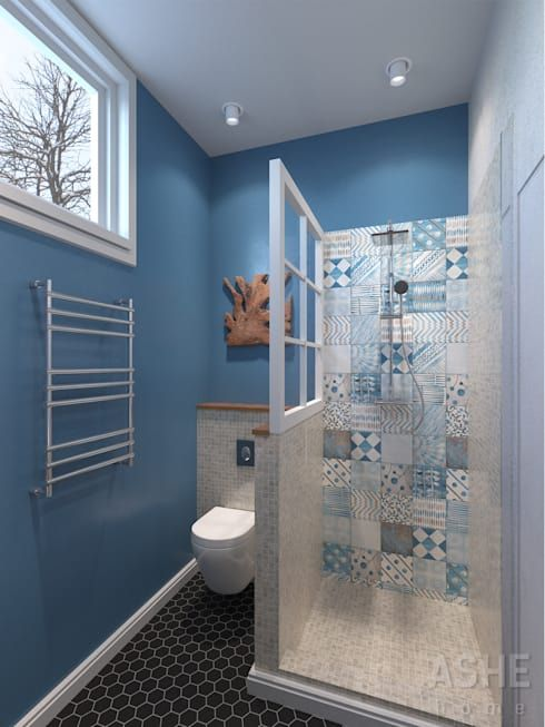 Bagno in stile in stile Eclettico di Студия авторского дизайна ASHE Home