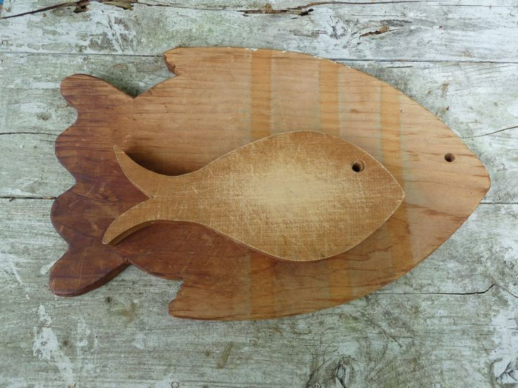 Old fish shaped cutting boards