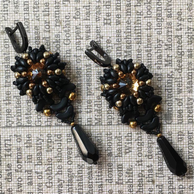 beaded earrings, FISH TAIL earrings, crystal earrings, cocktail earrings by Sjamgal on Etsy https://www.etsy.com/listing/545766863/beaded-earrings-fish-tail-earrings