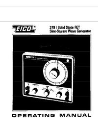 EICO Electronic Instrument Co. Inc. -- 379 -- Service and User Manual